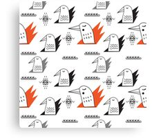 Birds in flames Canvas Print