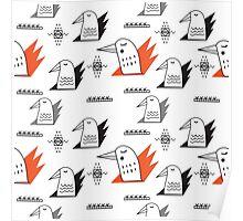 Birds in flames Poster