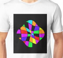 Abstract colorful flower Unisex T-Shirt
