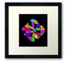 Abstract colorful flower Framed Print