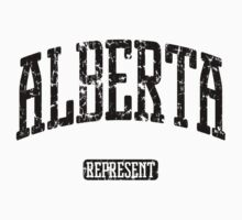 Alberta Represent (Black Print) Kids Clothes
