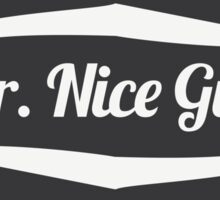 Mr. Nice Guy - Vintage Cool and Funny Clothing and Gifts Design Sticker