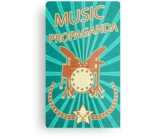 Music Propaganda Drum Set Metal Print