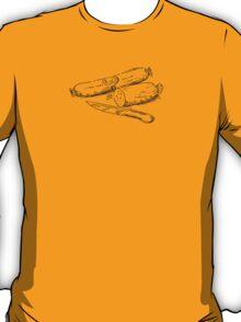 Chef Spicy Sausage t-shirt - James Newton Cookbooks T-Shirt
