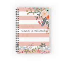 Escuela del Servicio de Precursor (Design no. 3) Spiral Notebook