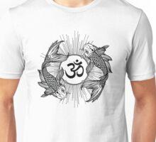 Koi carp holding a shining Ohm sign Unisex T-Shirt