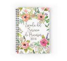 Escuela del Servicio de Precursor (Floral) Spiral Notebook