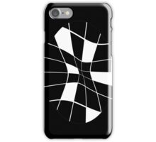 black and white abstract flower iPhone Case/Skin