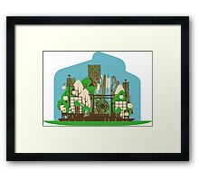 Asian zen in Summer Framed Print