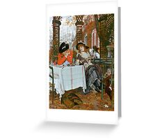Vintage Fine Art - James Tissot -The Luncheon 1868 Greeting Card