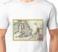 Vintage Map of England (1747) Unisex T-Shirt