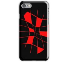 Abstract red flower iPhone Case/Skin