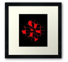 Abstract red flower Framed Print