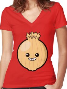 Ogres Have Layers. Onions Have Layers. Women's Fitted V-Neck T-Shirt