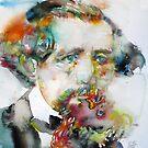 CHARLES DICKENS - watercolor portrait.3 by lautir