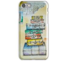 Travelling suitcases iPhone Case/Skin