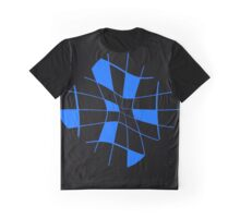 Blue abstract flower Graphic T-Shirt