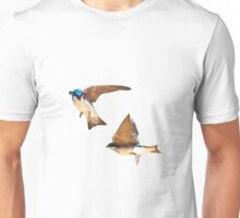 Flying Tree Swallows Unisex T-Shirt
