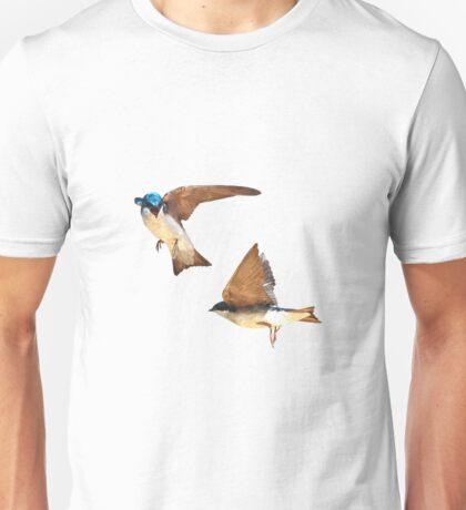 Flying Tree Swallows Unisex T-Shirt