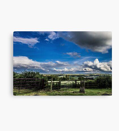 Cloudy Landscape Canvas Print