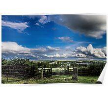 Cloudy Landscape Poster