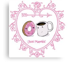 Coffee and Donut: A Love Story Canvas Print