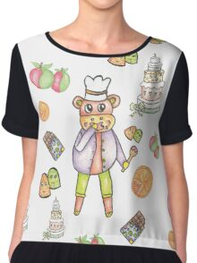 Monkey Chef  Chiffon Top