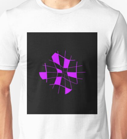 Purple Abstract Flower Unisex T-Shirt