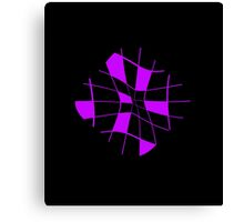 Purple Abstract Flower Canvas Print