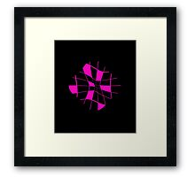 Pink abstract flower Framed Print