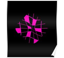 Pink abstract flower Poster