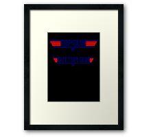 top gun bottom gun Framed Print