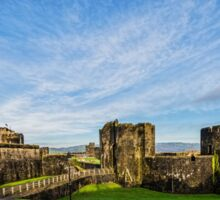 Caerphilly Castle Panorama Sticker