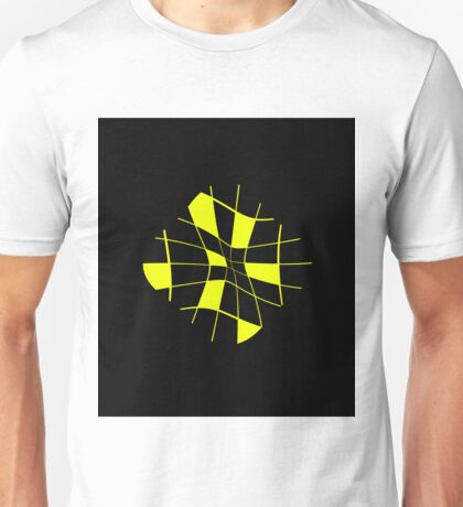 Yellow abstract flower Unisex T-Shirt