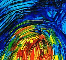 Colorful Abstract Art - Energy Flow 6 - By Sharon Cummings by Sharon Cummings