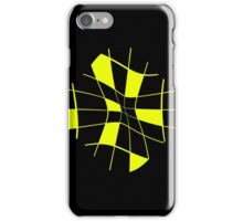 Yellow abstract flower iPhone Case/Skin