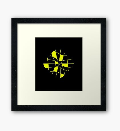 Yellow abstract flower Framed Print