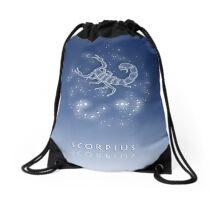 Scorpius Zodiac constellation - Starry sky Drawstring Bag