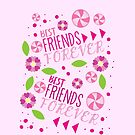 BFF best friends forever pattern by jazzydevil