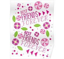 BFF best friends forever pattern Poster