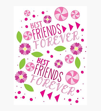 BFF best friends forever pattern Photographic Print