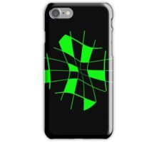 Green abstract flower iPhone Case/Skin