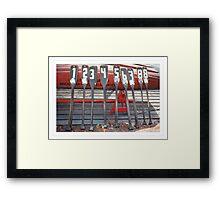Row Framed Print