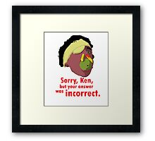 A Fish Called Wanda - Sorry, Ken Framed Print
