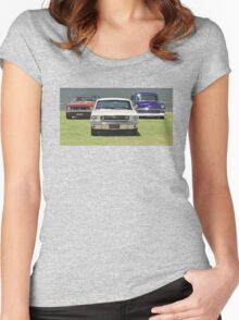 Mustang, Camaro, 56 Chevy Women's Fitted Scoop T-Shirt