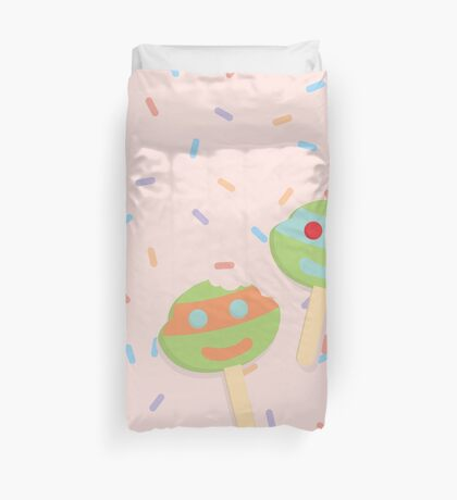 ice cream and sprinkles Duvet Cover