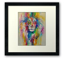 Rainbow lion Framed Print