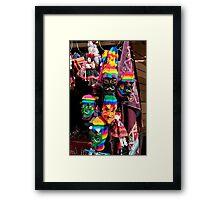 Ollantaytambo Masks Framed Print