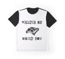 Needle On World Off Graphic T-Shirt