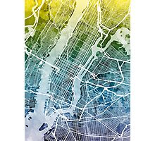 New York City Street Map Photographic Print